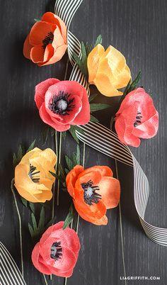 Crepe Paper Anemone Flower