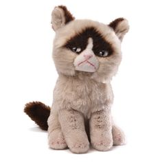 """A Li'l Grumpy beanbag... this little beanbag version of Grumpy Cat is 5"""" tall, huggably soft and totally CUTE! Don't know Grumpy Cat? Visit her on Facebook."""