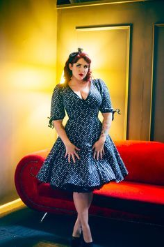 pin up girls, photomodel, and bewty εικόνα Fashion Moda, Curvy Fashion, Retro Fashion, Plus Size Fashion, Vintage Fashion, Look Plus Size, Dress Plus Size, Plus Size Outfits, Look Vintage