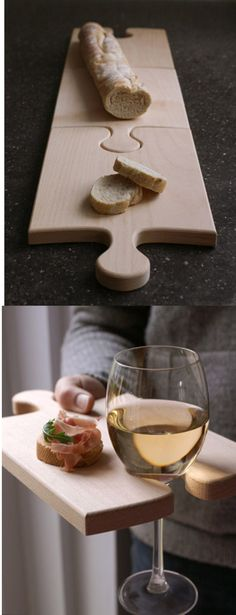 I love this. If you had 4 or 5 and were having a charcuterie or cheese board you could use as many as you needed. Not so into the wine holder part. Would just use as serving boards.