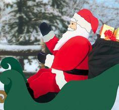 Christmas Woodcraft Patterns | All Christmas - Seated Santa Woodcraft Pattern