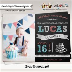 $35.00 Convite Primeiro Aninho Digital com Foto