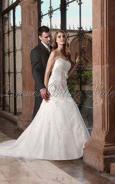 White Superb A-line Sweetheart Floor-length Dress Shop Online - 4p108 - skunew-1027b-2