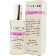 Demeter Baby Powder Women's 4-ounce Cologne Spray (1.620 RUB) ❤ liked on Polyvore featuring beauty products, fragrance, summer perfume, perfume fragrances, spray perfume and demeter fragrance library