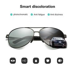 b07e07742c Polarized Photochromic Sunglasses Men s UV400 Driving Transition Lens  Sunglasses