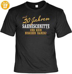 Zum 20. Geburtstag - seit 20 Jahren Sahneschnitte und kein bisschen ranzig! - T-Shirt, perfekt für den 20ger! (*Partner-Link)