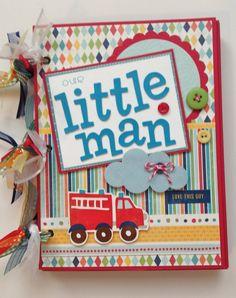 SALE Scrapbook for Boy Premade Album 6x8 Toddler Boy Theme via Etsy