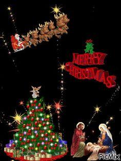 Christmas Greetings, Christmas Time, Merry Christmas, Christmas Ornaments, Birth Of Jesus, Baby Jesus, Good Morning Flowers Gif, Xmas Quotes, Christmas Scenery