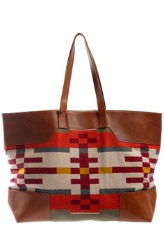 93b26e839007 Pendleton Portland Collection Canyonville Wool and Leather Tote  365 Urban  Outfits