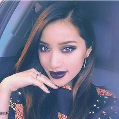 Michelle Phan #ipsy Michelle Phan Instagram, How To Make Money, Make Up, Kelly Osbourne, Dramatic Makeup, Dark Lips, Youtube Stars, Makeup Inspiration, Youtubers