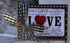 """""""Love"""" card by Jill Sarginson"""