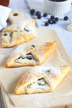 Blueberry & Honey Cream Croissants!