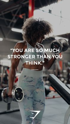 """You are so much stronger than you think"" - Unknown. #Gymshark #Quote #Motivational"