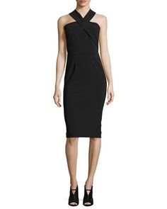 Sleeveless Bi-Stretch Curve Dress, Black by Nicholas at Neiman Marcus.