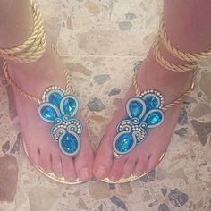 Lyn Bug Store)   Iconosquare Macrame Earrings, Soutache Earrings, Soutache Tutorial, Jewelry Crafts, Handmade Jewelry, Dresses Kids Girl, Glass Slipper, Shoe Art, Bare Foot Sandals