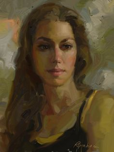 """Sarah"", a portrait by Rick Graham, App: Artrage on the iPad!"