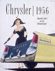 1956 Chrysler New Yorker (Canada) Vintage Advertisements, Vintage Ads, Vintage Posters, Classic Motors, Classic Cars, Retro, Chrysler New Yorker, Car Advertising, Car Posters