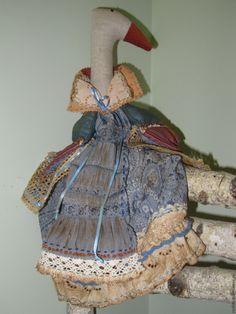 Купить Ароматная Хранительница (пакетница) тильда гусь Марта - голубой, тильда, тильда гусь, Гусыня