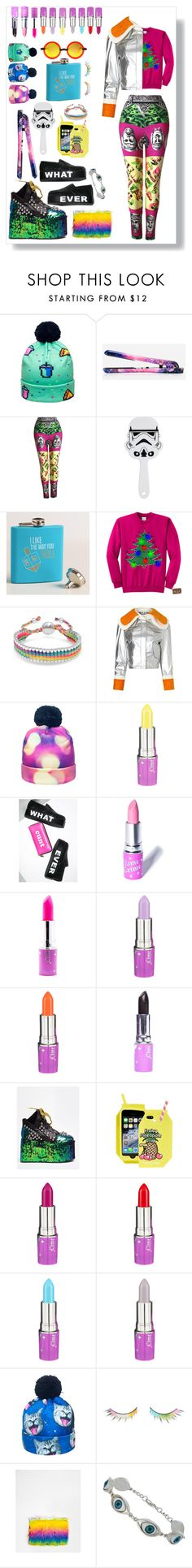 """""""EDC -Electronic Dance Christmas"""" by itsjillybitch ❤ liked on Polyvore featuring Eva NYC, Versace, Cost Plus World Market, Bling Jewelry, Anna K, Lime Crime, T.U.K., Y.R.U., Skinnydip and shu uemura"""