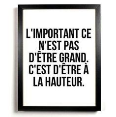 A la hauteur – Mes mots doux – Best Pins Live Quotes Español, Words Quotes, Funny Quotes, Sayings, The Words, Cool Words, Positive Mind, Positive Attitude, Positive Quotes
