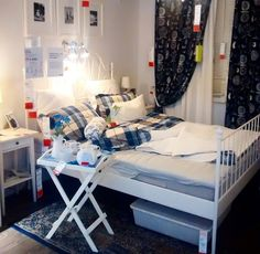 ikea LEIRVIK bed bedroom idea