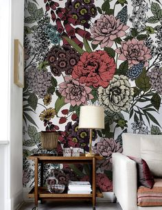 Autumn flowers Wallpaper | COLORAYdecor.com: 2-day Shipping On Your Removable Wallpaper