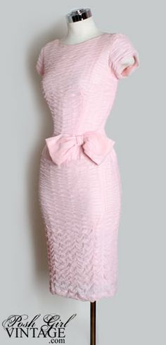 1950's Pink Ruched Marilyn Dress