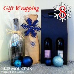 """To celebrate a great year we're toasting with a days of Christmas"""" giveaway! We will feature one Blue Mountain wine or gift for each of the next 12 days along with the perfect holiday occasion to enjoy them or ideas on who to share them with. Christmas Giveaways, 12 Days Of Christmas, Christmas Tree, Sparkling Wine, Blue Mountain, Wine Gifts, Secret Santa, Pinterest Board, Wraps"""