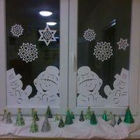 Mesés téli ablakdekoráció