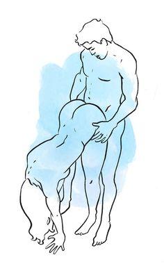 wheelbarrow sex position illustration