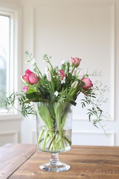 tips for arranging a Valentine's bouquet
