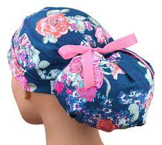 Womens Perfect Fit Ponytail Surgical Scrub Hat   Tea Garden Surgical Caps, Surgical Tech, Stylish Scrubs, Large Women, Scrub Hats, Cute Scrubs, Hair Cover, Womens Scrubs, Nursing Clothes
