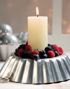 Arranjo de frutas ou castiçal com decoração natural? A sugestão é um pouco dos dois (Decoração de Natal | Christmas decor)