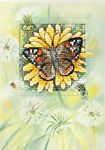 Butterfly and Dandelions Card Cross Stitch Kit