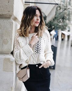 caroline receveur cheveux tie and dye Ombré Hair, New Hair, Caroline Receveur Hair, Sweater Weather, Juliana Louise, Cabelo Ombre Hair, European Street Style, Good Hair Day, Casual Outfits