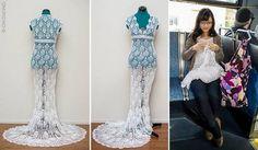 Häkeln: Hochzeitskleid häkeln: Diese Braut macht es vor   BRIGITTE.de
