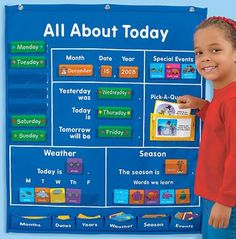About Today Activity Center All About Today Activity Center - Lakeshore learning. Great for myAll About Today Activity Center - Lakeshore learning. Preschool Classroom, Preschool Learning, Preschool Activities, Kindergarten Jobs, Montessori Elementary, Preschool Graduation, Classroom Organization, Classroom Management, Circle Time Board