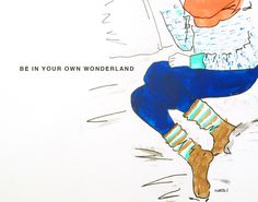 Wonderland by Marta Scupelli • www.stripe-me.com My Art Studio, Painting Collage, English Words, Journal Pages, Word Porn, Cute Art, Disney Characters, Fictional Characters, Wonderland