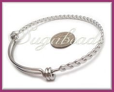 1 Stainless Steel Twist Wire Bangle Bracelet for by sugabeads