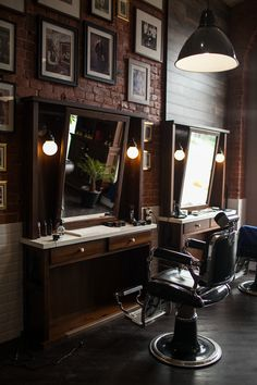 Right on Behance BuyRite Beauty Salon Equipment Barber Chair s Styling Stations Barbershop Interior Design Ideas Decor Vintage Modern Rustic Barber Shop Interior, Barber Shop Decor, Salon Interior Design, Salon Design, Modern Barber Shop, Barbershop Design, Barbershop Ideas, Men's Grooming, Tattoo Studio
