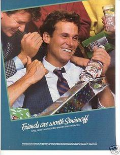 RARE 1986 Smirnoff Holiday Ad Free Shipping   eBay
