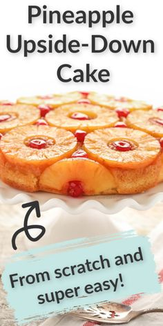 This homemade Pineapple Upside-Down Cake features a delicious caramelized pineapple topping and an incredibly buttery, moist cake! Homemade Desserts, Easy Desserts, Delicious Desserts, Dessert Recipes, Pineapple Upside Cake, Easy Recipe For Pineapple Upside Down Cake, Cakes Today, Homemade Snickers, Cake Recipes From Scratch