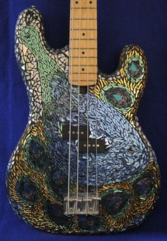 Beautiful Mosaic Guitar by Leapoffaithglass.com