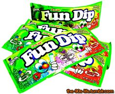 Fun Dip!! I remember sitting at a little propped up table stand selling the jewelry I made as a little kid eating fun dip candy w/ a friend :)