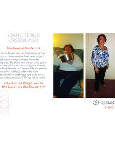 ageLOC TR90 Before & After - Joanne Ferreri