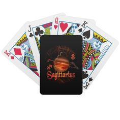 gothic Sagittarius zodiac astrology  by Valxart.com Bicycle Card Deck playing cards