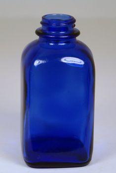 Antique Glass Bottles, Apothecary Bottles, Vintage Bottles, Bottles And Jars, Vintage Glassware, Cobalt Glass, Cobalt Blue, Sandblasted Glass, Medicine Bottles