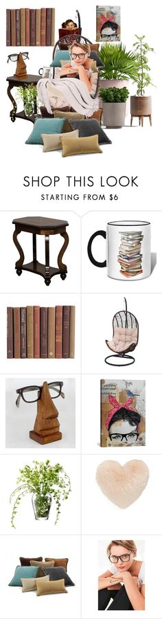 """""""Cozy books"""" by blumbeeno ❤ liked on Polyvore featuring DutchCrafters, Cost Plus World Market, iCanvas, LSA International, Nordstrom and Urban Outfitters"""