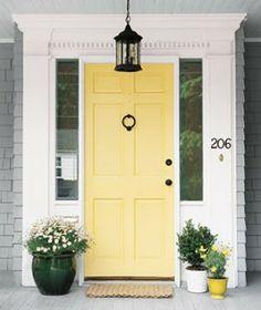 Yellow door white trim