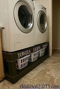 diy laundry pedestal, cleaning organization, diy, laundry rooms, storage shelving, woodworking projects, This laundry pedestal is one of my ... #pedestals